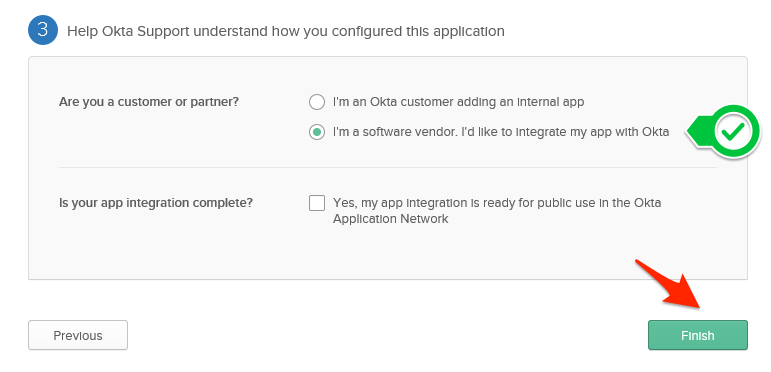 Select the customer or vendor option