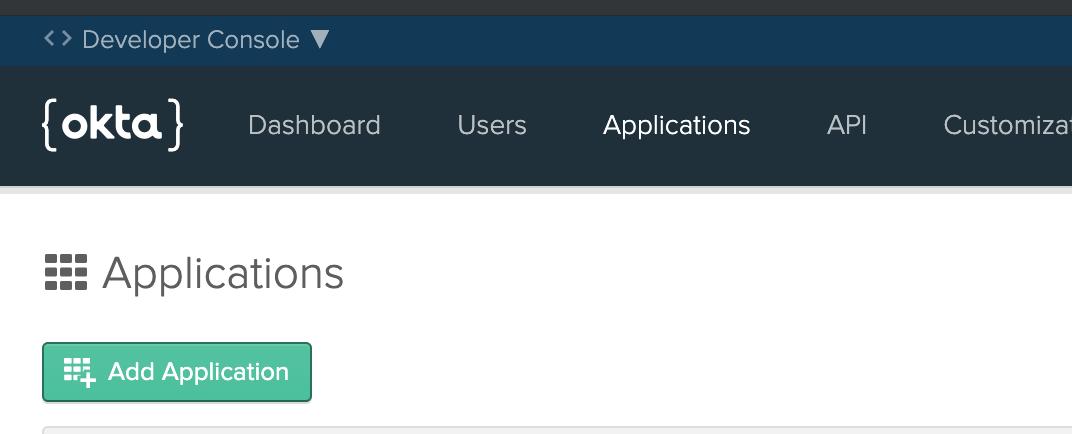 Add Application button