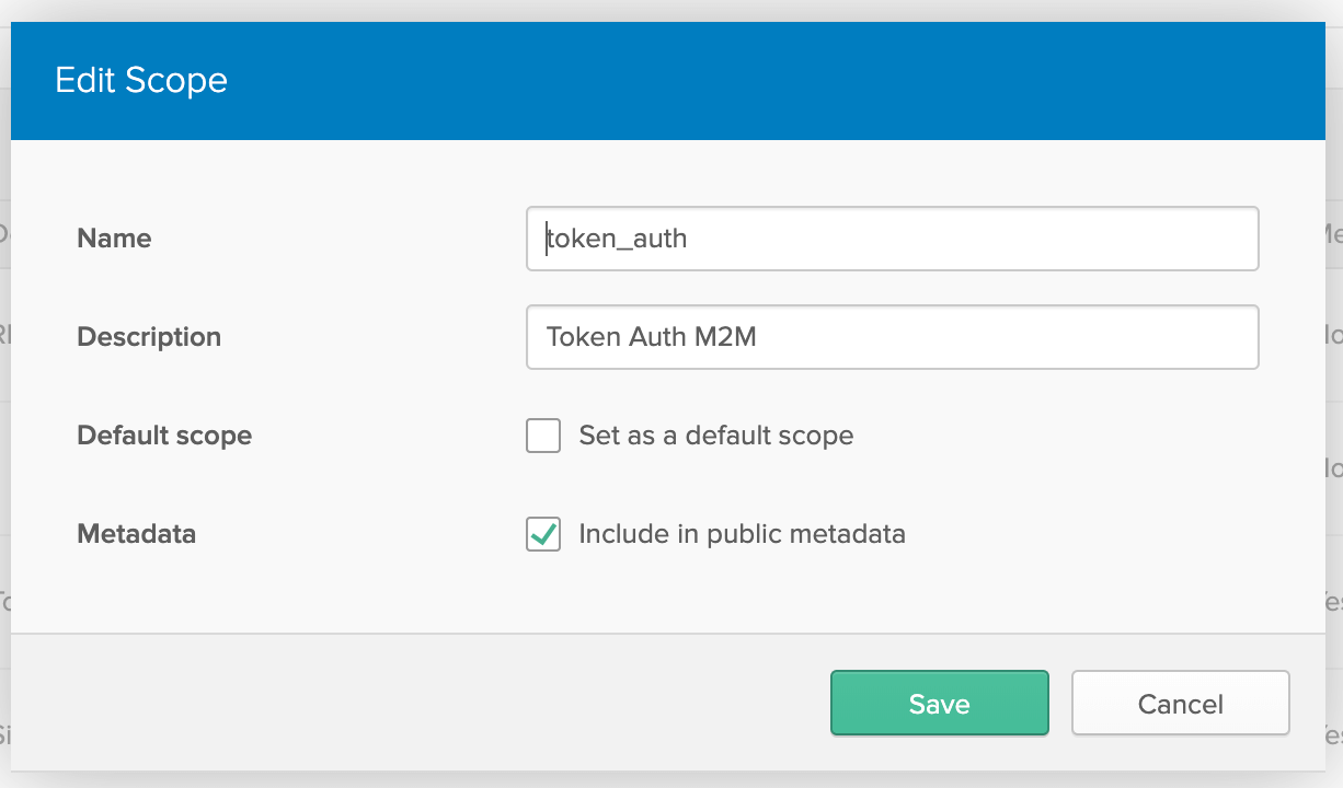 Create new scope named token_auth