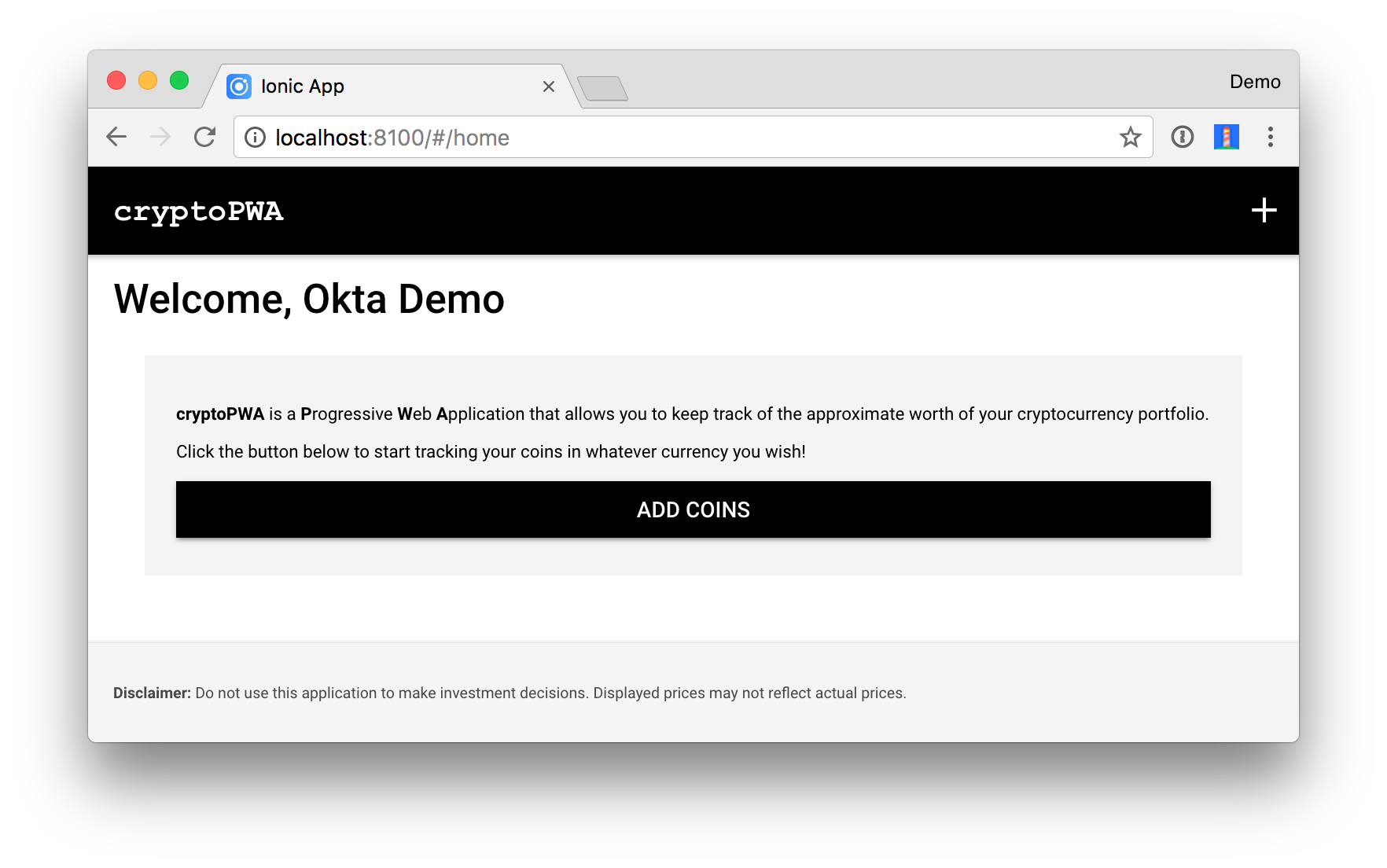 Protect Your Cryptocurrency Wealth Tracking PWA with Okta | Okta