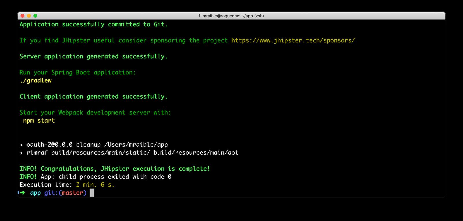 Create JHipster App