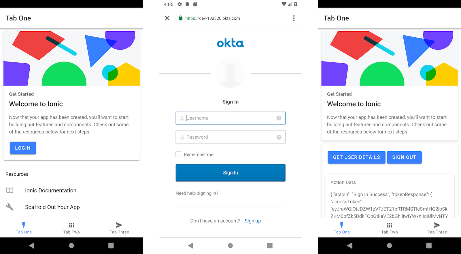 Tutorial: User Login and Registration in Ionic 4 | Okta