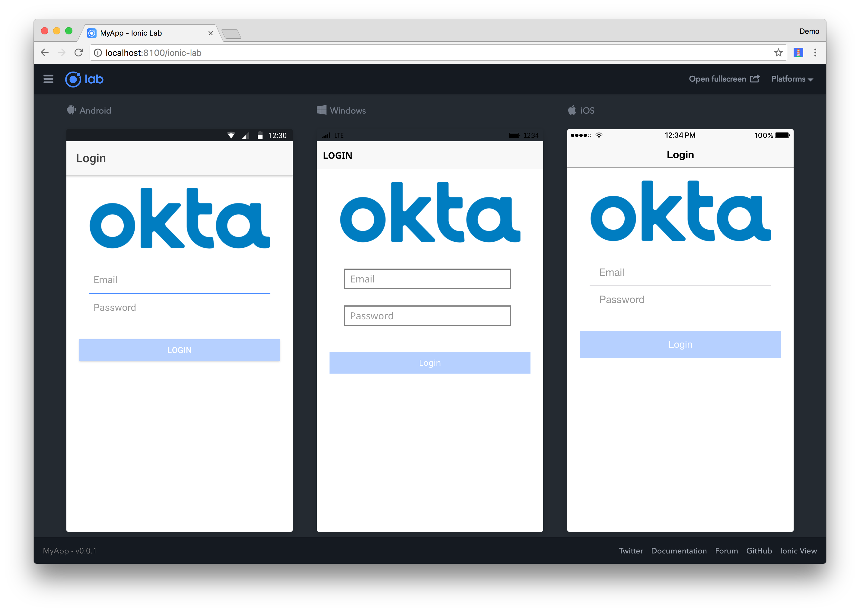 Build an Ionic App with User Authentication | Okta Developer