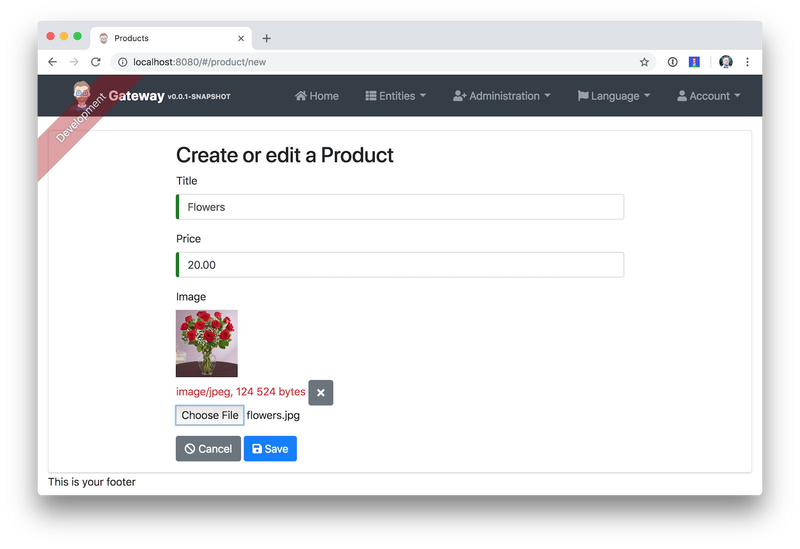 Add Product Page