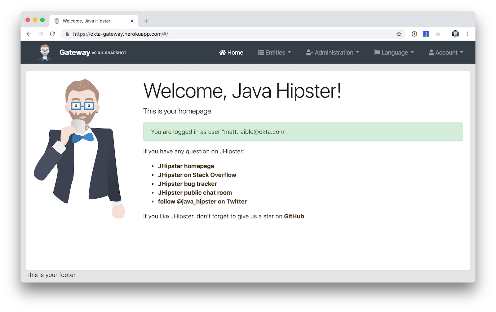 Welcome, Java Hipster