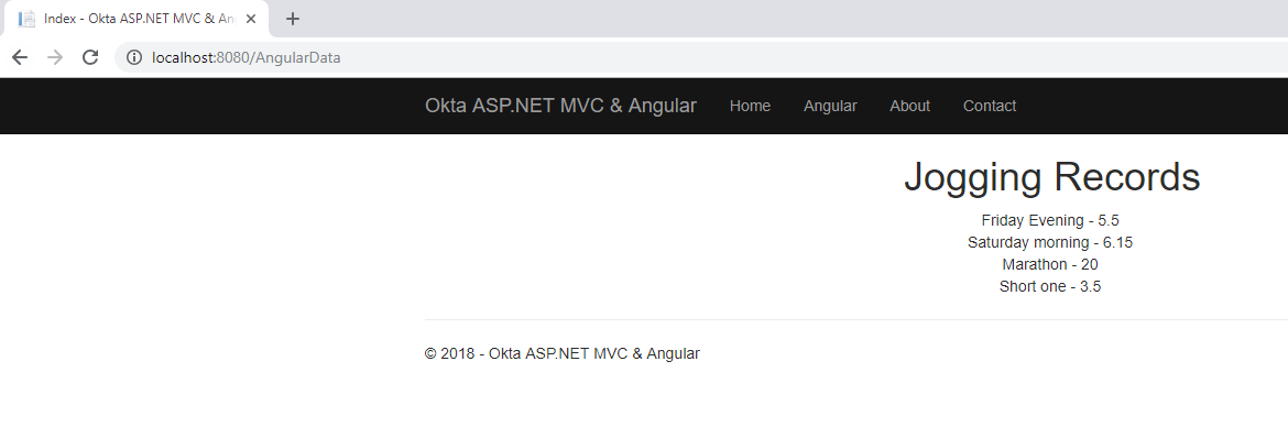 Build a Basic Website with ASP NET MVC and Angular | Okta
