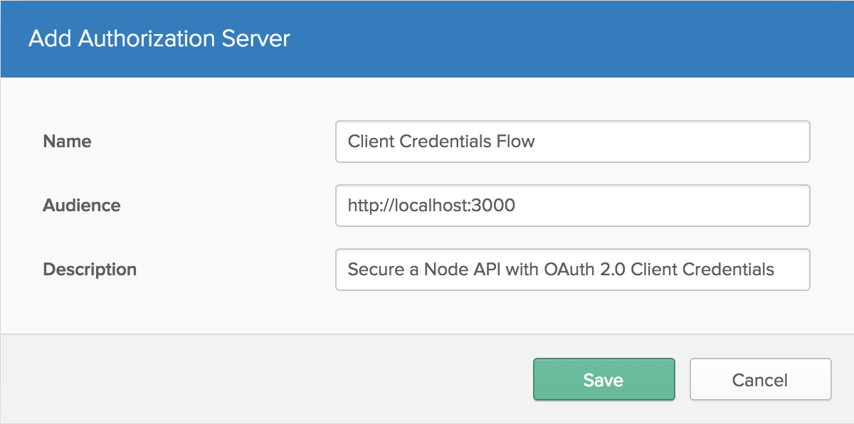 Secure a Node API with OAuth 2 0 Client Credentials | Okta Developer