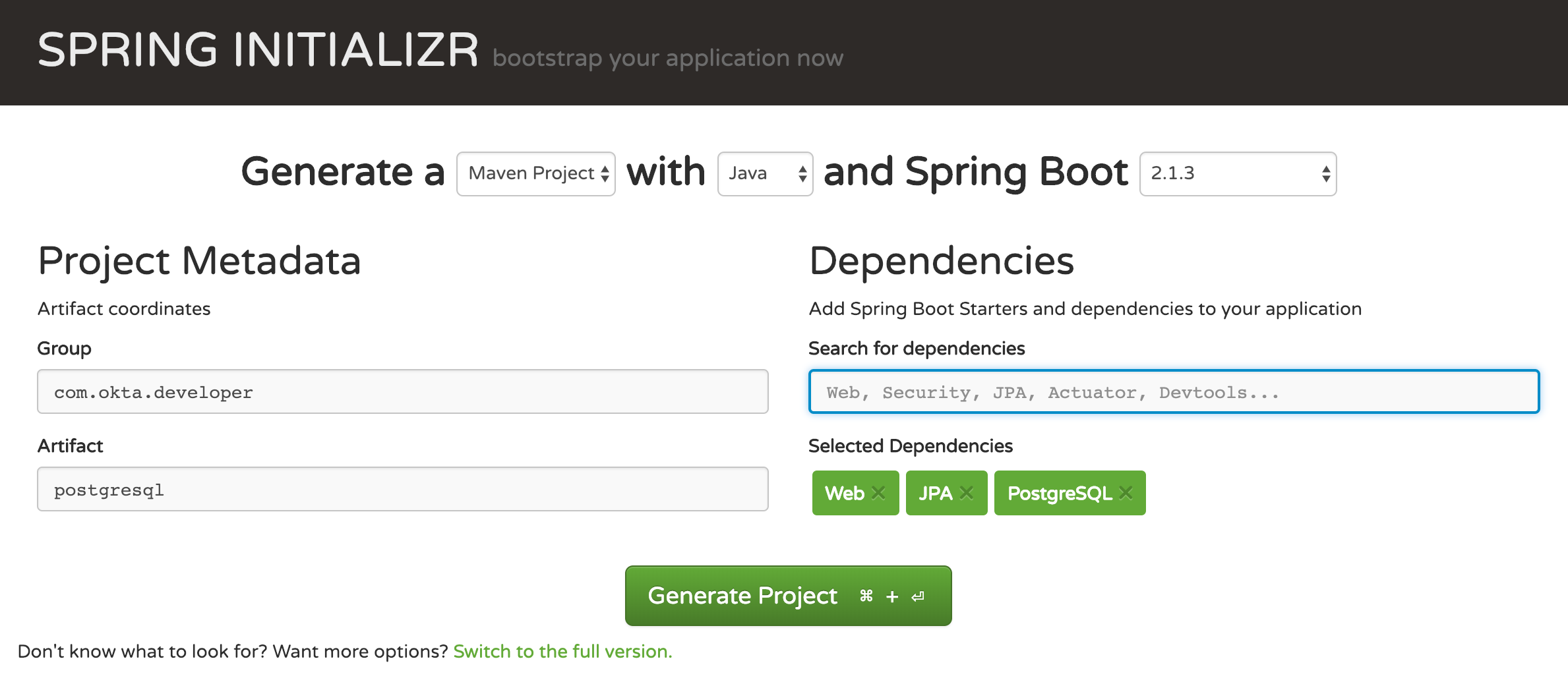 Spring Boot with PostgreSQL, Flyway, and JSONB | Okta Developer