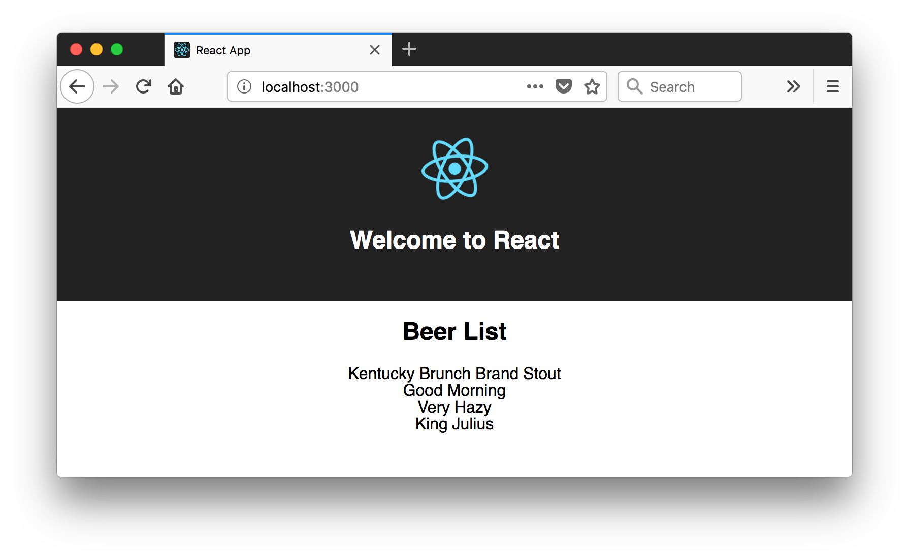 Beer List in React