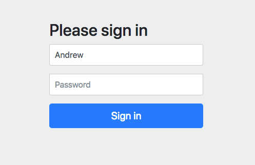 Sign-In Form