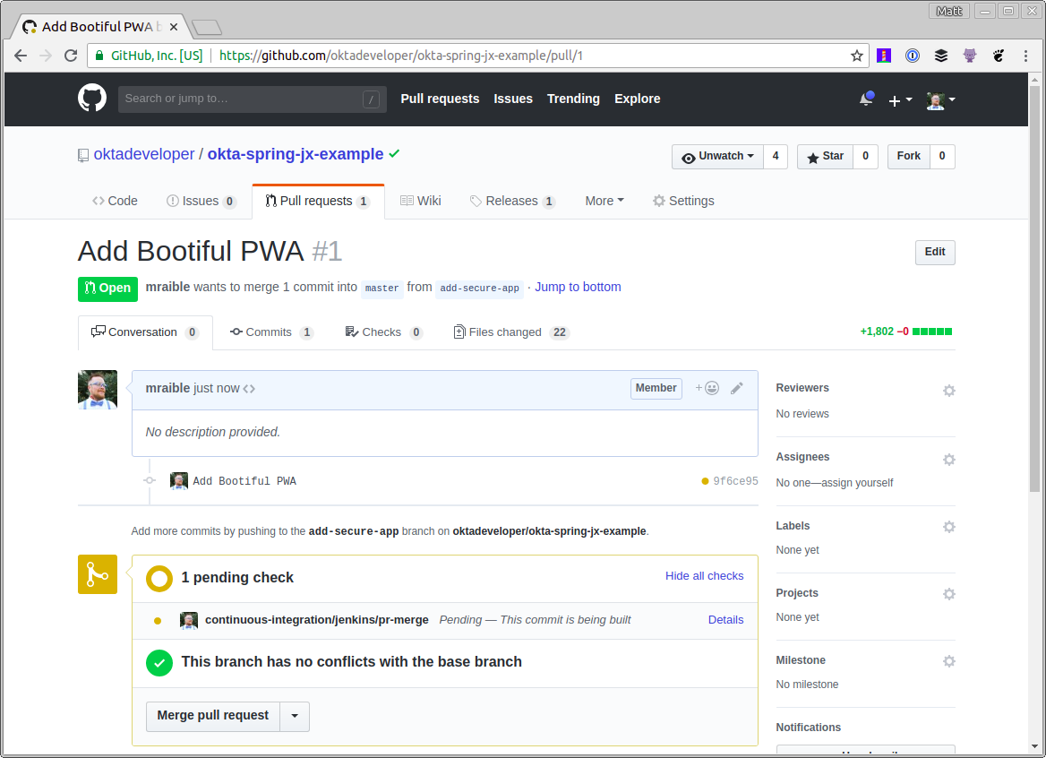 Add Bootiful PWA Pull Request