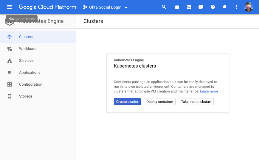 Create Cluster on Google Cloud