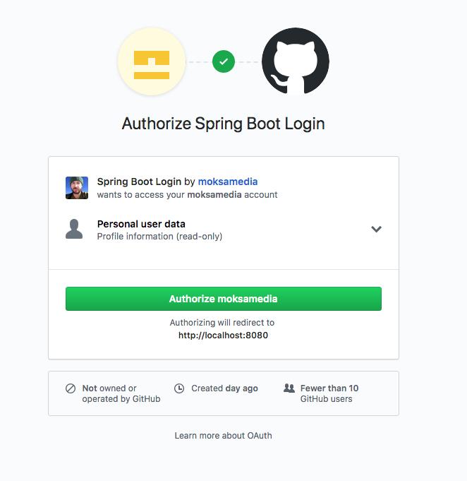 Authorize Login on GitHub