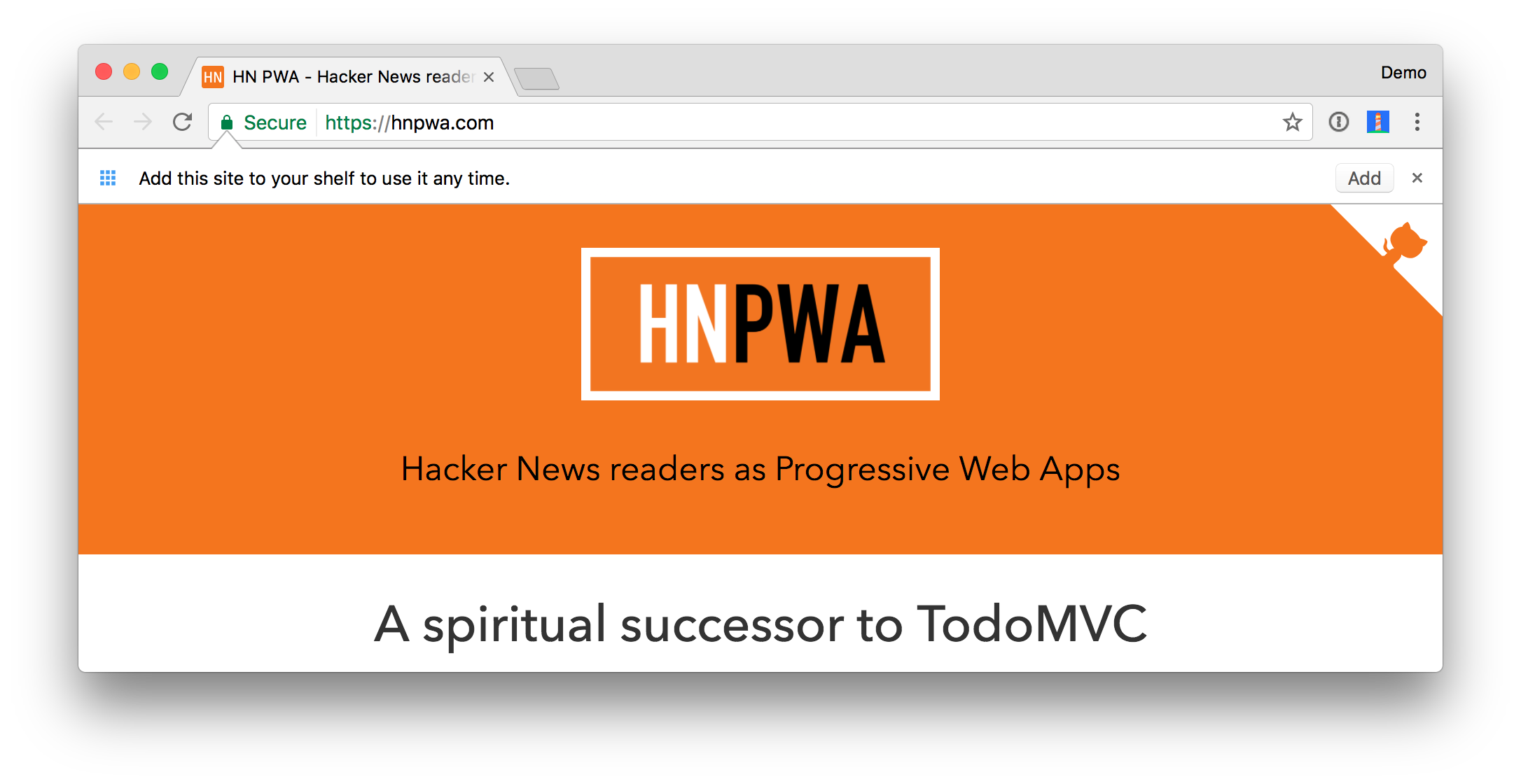 Hacker News PWA