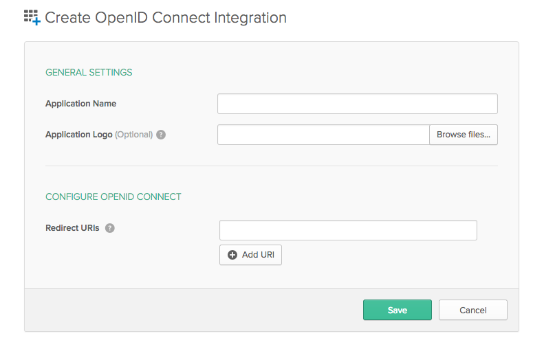 New OpenID Connect Create Wizard